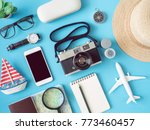 top view travel concept with...   Shutterstock . vector #773460457