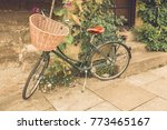 classic vintage bycicle with...   Shutterstock . vector #773465167