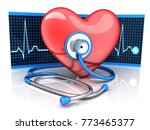 abstract diagnostic red hearth... | Shutterstock . vector #773465377
