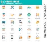 flat basic icons set for... | Shutterstock .eps vector #773466187