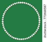 round frame of white dices... | Shutterstock .eps vector #773468587