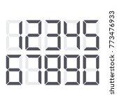calculator digital numbers set. ... | Shutterstock .eps vector #773476933