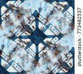 seamless tie dye pattern of...   Shutterstock . vector #773482537