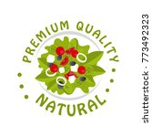 premium quality  natural logo...   Shutterstock .eps vector #773492323