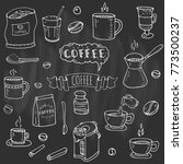 hand drawn doodle coffee time... | Shutterstock .eps vector #773500237