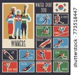 winter sport games 2018 | Shutterstock .eps vector #773518447