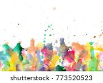 blobs   watercolour paints... | Shutterstock . vector #773520523