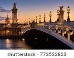 pont alexandre iii bridge and... | Shutterstock . vector #773532823