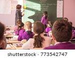 school children are... | Shutterstock . vector #773542747