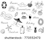 icon set of summer vector beach ... | Shutterstock .eps vector #773552473