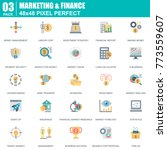 flat marketing and finance... | Shutterstock .eps vector #773559607