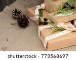 happy winter holiday theme.... | Shutterstock . vector #773568697