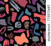 creative pattern. artistic...   Shutterstock .eps vector #773572687