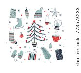 set of christmas and new year... | Shutterstock .eps vector #773576233