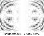 abstract halftone wave dotted... | Shutterstock .eps vector #773584297