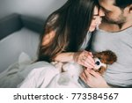 a photo session of a guy and a...   Shutterstock . vector #773584567