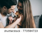 a photo session of a guy and a... | Shutterstock . vector #773584723