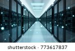server room center exchanging... | Shutterstock . vector #773617837