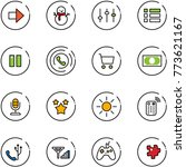 line vector icon set   right...