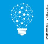light bulb idea icon with... | Shutterstock .eps vector #773622313