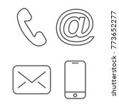 contact icon. editable stroke | Shutterstock .eps vector #773652277