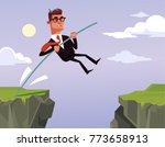 brave businessman office worker ... | Shutterstock .eps vector #773658913