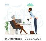 business meeting. boss and... | Shutterstock .eps vector #773671027