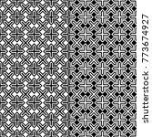 black and white geometric... | Shutterstock .eps vector #773674927