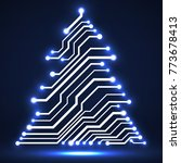 abstract technology christmas... | Shutterstock .eps vector #773678413