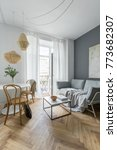scandinavian living room with... | Shutterstock . vector #773682307