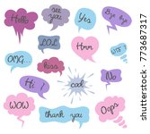 set of cartoon speech bubbles... | Shutterstock .eps vector #773687317