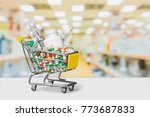 shopping trolley medical capsule | Shutterstock . vector #773687833