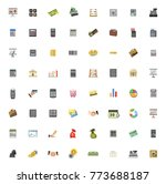 financial icons set | Shutterstock .eps vector #773688187