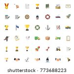 shipping icons set | Shutterstock .eps vector #773688223