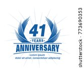 41 years design template.... | Shutterstock .eps vector #773690353
