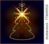 abstract illuminated chrismas... | Shutterstock .eps vector #773690923