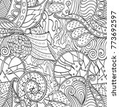 tracery seamless pattern.... | Shutterstock .eps vector #773692597