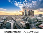 downtown skyline at sunset. los ... | Shutterstock . vector #773695963