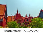 royal palace exterior in phnom... | Shutterstock . vector #773697997