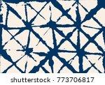 shibori tie dye vector summer... | Shutterstock .eps vector #773706817