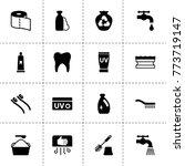 hygiene icons. vector...
