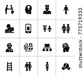 people icons. vector collection ... | Shutterstock .eps vector #773719333