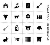 farm icons. vector collection...