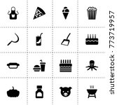 food icons. vector collection...
