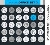 inline office icons collection | Shutterstock .eps vector #773722027