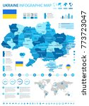 ukraine infographic map and... | Shutterstock .eps vector #773723047