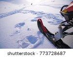 ski of snowmobile and remote... | Shutterstock . vector #773728687