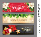 christmas banners with... | Shutterstock .eps vector #773734093