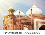 taj mosque in taj mahal complex.... | Shutterstock . vector #773735713