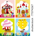 cartoon playground card | Shutterstock .eps vector #77374267
